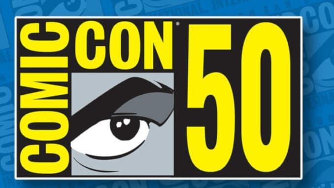 comic con 50 2019 logo